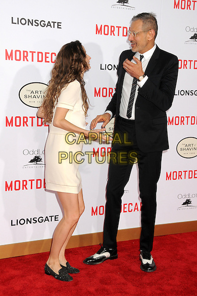 21 January 2015 - Hollywood, California - Emilie Livingston, Jeff Goldblum. &quot;Mortdecai&quot; Los Angeles Premiere held at the TCL Chinese Theatre. <br /> CAP/ADM/BP<br /> &copy;BP/ADM/Capital Pictures