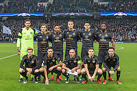 Celtic pre match team photo before the UEFA Champions League GROUP match between Manchester City and Celtic at the Etihad Stadium, Manchester, England on 6 December 2016. Photo by Andy Rowland.