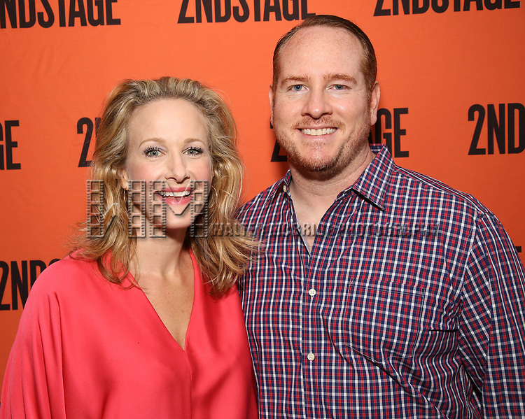Katie Finneran and Darren Goldstein attend the Opening Night performance of 'A Parallelogram'  at The Second Stage Theatre on August 2, 2017 in New York City.