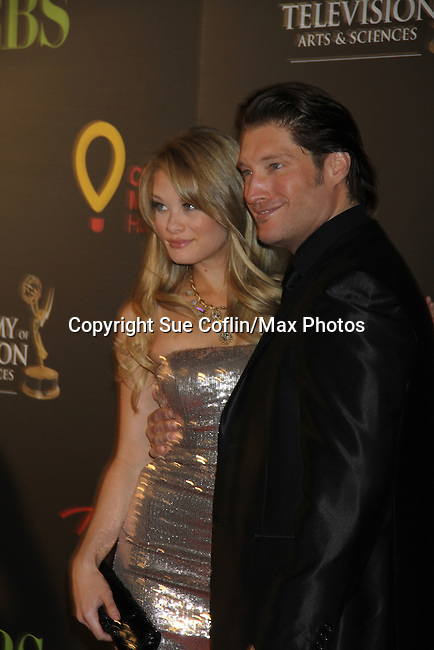 Kim Matula & Sean Kanan at the 38th Annual Daytime Entertainment Emmy Awards 2011 held on June 19, 2011 at the Las Vegas Hilton, Las Vegas, Nevada. (Photo by Sue Coflin/Max Photos)