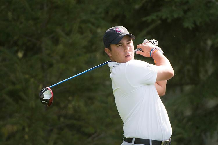 April 14, 2014; Bremerton, WA, USA; Loyola Marymount Lions golfer Tyler Torano during the WCC Golf Championships at Gold Mountain Golf Club.