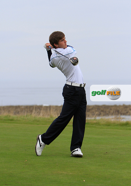 Bradley Neil (AM) during Round 2 of the Alfred Dunhill Links Championship at Kingsbarns Golf Club on Friday 27th September 2013.<br />