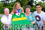 The Lost Shirt: Sean Flaherty Lixnaw presents the Kerry shirt that John Egan wore in the All Ireland Centenary final in 1984 against Dublin to his family in the Malton Hotel Wednesday evening l-r: Mairín, Mary and John Egan Jnr