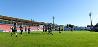20171023 - PENAFIEL , PORTUGAL :  illustration picture shows the stadium during the matchday -1 training session of the Belgian national women's soccer team Red Flames prior to the game against the women's team of Portugal , on monday 23 October 2017 at Estádio Municipal 25 de Abril in Penafiel. The Red Flames are playing their third game in the Worldcup 2019 France qualification against Portugal. PHOTO SPORTPIX.BE | DAVID CATRY
