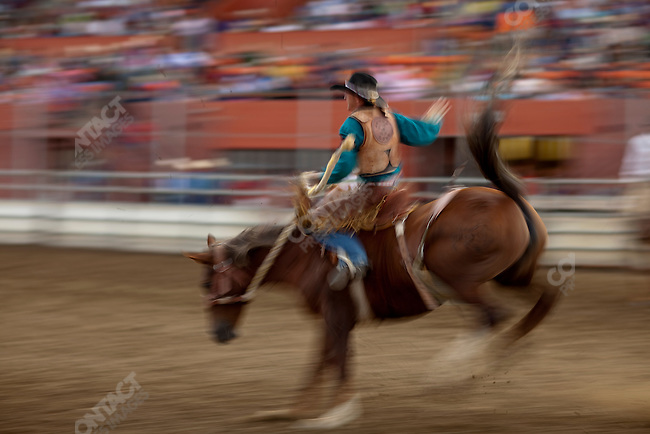 Scenes from the rodeo at the Montana Fair in Billings, Montana. Bilings, Montana, USA, August 15, 2009