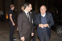 SAO PAULO, SP, 02.06.2014. JOSEPH BLATTER. O presidente da Fifa, Joseph Blatter chega ao Hotel Grand Hyatt em São Paulo onde ficará hospedado na noite desta segunda feira.  (Foto: Adriana Spaca / Brazil Photo Press)