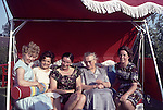 Europe, DEU, Germany, In the sixties, Historical image, People group, Womans, Hollywoodswing, Swing, Historic image from the sixties., People, Peoples, Group, Groups, Hystory, Historic, Historical, Historical image, Historical photography, Contemporary, Historic image, Historic photography....Europa, DEU, Deutschland, 60er Jahre, Historische Aufnahme, Personengruppe Hollywoodschaukel, Historische Fotografie die in den 60er Jahren entstand und den Zeitgeist der damaligen Zeit symbolisiert., Gesellschaft, Lebenswelten, Lebensraeume, Gesellschaftliche Themen, Soziale Themen, Historisch, Geschichte, Geschichtliches, Historische Aufnahme, Historische Fotografie....[For each utilisation of my images my General Terms and Conditions are mandatory. Usage only against use message and proof. Download of my General Terms and Conditions under http://www.image-box.com or ask for sending. A clearance before usage is necessary. Material is subject to royalties. Each utilisation of my images is subject to a fee in accordance to the present valid MFM-List. Contact: Uwe Schmid-Photography, Duisburg, Germany, Tel. (+49).2065.677997,..schmid.uwe@onlinehome.de, www.image-box.com]