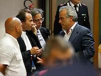 i Pm  Woodcook , Piscitelli e Milita dopo  la lettura del la sentenza di condanna per Berlusconi  perla  compravendita senatori