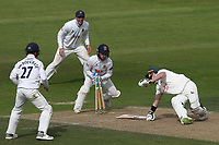 Adam Wheater of Essex effects the stumping of Tom Moores from the bowling of  Simon Harmer during Nottinghamshire CCC vs Essex CCC, Specsavers County Championship Division 1 Cricket at Trent Bridge on 12th September 2018