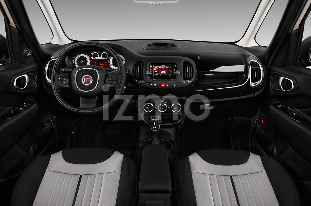 Stock photo of straight dashboard view of 2016 Fiat 500L Trekking 5 Door Mini MPV Dashboard