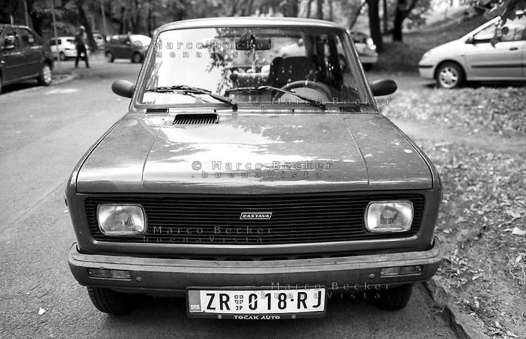 Belgrado, una Fiat 128 prodotta su licenza dalla Zastava --- Belgrade, a Fiat 128 produced under license by Zastava