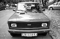 Belgrado, una Fiat 128 prodotta su licenza dalla Zastava --- Belgrade, a Fiat 128 produced under license by Zastava