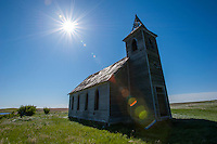 Abandoned church in northeastern Montana.