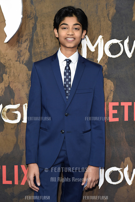 LONDON, UK. December 04, 2018: Rohand Chand at the&quot;Mowgli: Legend of the Jungle&quot; premiere at the Curzon Mayfair, London.<br /> Picture: Steve Vas/Featureflash