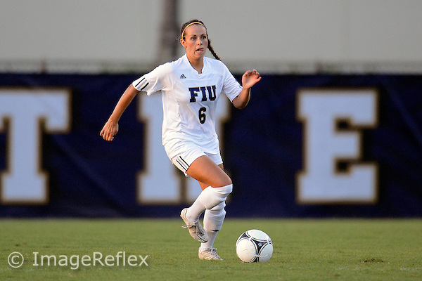 Florida International University women's soccer defender/midfielder Marie Egan (6) plays against the University of Idaho on September 9, 2012 at Miami, Florida. FIU won the game 6-0. .