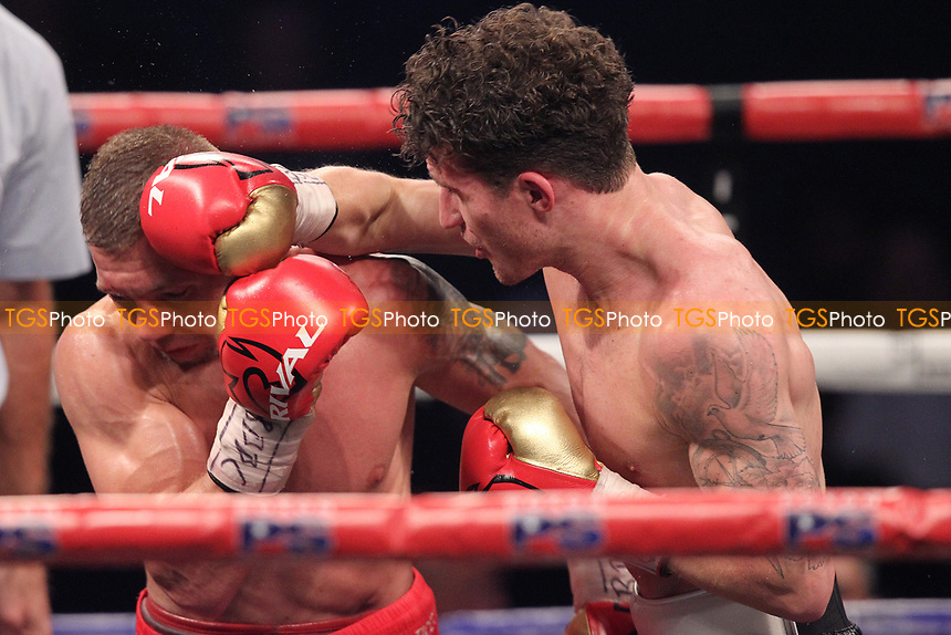 Robbie Davies Jn vs Michal Syrowatka during a Boxing Show at the SSE Arena, Wembley on 15th July 2017