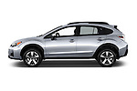 Car Driver side profile view of a 2016 Subaru Crosstrek Hybrid-Touring 5 Door SUV Side View
