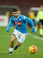 Napoli's Lorenzo Insigne in action  during the  italian serie a soccer match,between SSC Napoli and Sassuolo    at  the San  Paolo   stadium in Naples  Italy ,Napoli  wins  3-1
