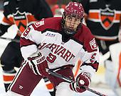 Luke Esposito (Harvard - 9) - The Harvard University Crimson defeated the Princeton University Tigers 3-2 on Friday, January 31, 2014, at the Bright-Landry Hockey Center in Cambridge, Massachusetts.