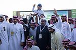 RIYADH,SAUDI ARABIA-FEB 28: Sun Hat,ridden by Mike Smith,wins the 2nd leg of International Jockeys Challenge at King Abdulaziz Racetrack on February 28,2020 in Riyadh,Saudi Arabia. Kaz Ishida/Eclipse Sportswire/CSM