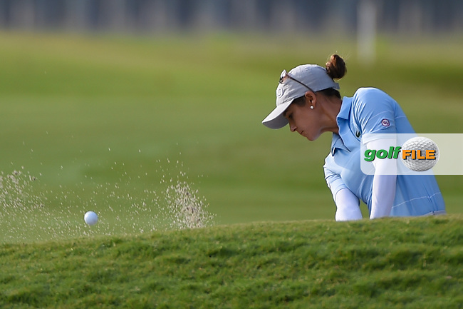 Azahara Munoz (ESP) hits from the trap on 10 during round 2 of the 2019 US Women's Open, Charleston Country Club, Charleston, South Carolina,  USA. 5/31/2019.<br /> Picture: Golffile | Ken Murray<br /> <br /> All photo usage must carry mandatory copyright credit (© Golffile | Ken Murray)