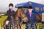 l-r Grace Foley with Elliott,Cu Corcoran's Little Master and Cas Foley from Firies. at the KERRY PONY SOCIETY  36th Year Annual Show & Gymkhana At Blennerville, By kind permission of the Hurley Family