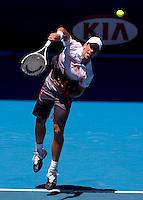 Novak Djokovic (SRB) (3) against Marco Chiudinelli (SUI) in the Second Round of The Mens Singles. Djokovic beat  Chiudinelli  3-6 6-1 6-1 6-3..International Tennis - Australian Open Tennis - Thur 21 Jan 2010 - Melbourne Park - Melbourne - Australia ..© Frey - AMN Images, 1st Floor, Barry House, 20-22 Worple Road, London, SW19 4DH.Tel - +44 20 8947 0100.mfrey@advantagemedianet.com