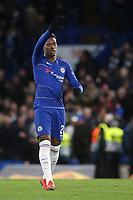 Callum Hudson-Odoi celebrates scoring Chelsea's third goal during Chelsea vs Dynamo Kiev, UEFA Europa League Football at Stamford Bridge on 7th March 2019