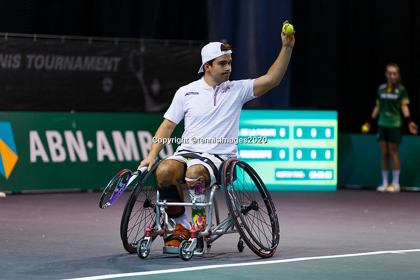 Rotterdam, The Netherlands, 12 Februari 2020, ABNAMRO World Tennis Tournament, Ahoy. Wheelchair: Martin De La Puente (ESP).<br /> Photo: www.tennisimages.com