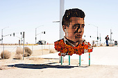 """Lost Hills, California<br /> June 19, 2013<br /> <br /> Blackwell's Corner, in Lost Hills, Calif., was the last stop made by actor James Dean on Sept. 30, 1955, just before he was killed in his Porsche sports car when he was hit by a Ford truck on U.S. Route 466 (now State Route 46). Dean, 24 at the time of his death, had become a big Hollywood star with appearances in """"Rebel Without a Cause,"""" """"East of Eden,"""" and """"Giant,"""" his last movie."""