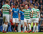11.3.2018 Rangers v Celtic:<br /> Scott Brown passes on instructions from Brendan Rodgers