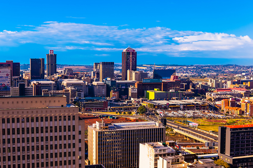 Skyline, Central Business District, Johannesburg, South Africa.