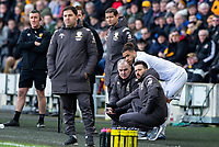 Leeds United manager Marcelo Bielsa gives instructions to Tyler Roberts<br /> <br /> Photographer Alex Dodd/CameraSport<br /> <br /> The EFL Sky Bet Championship - Hull City v Leeds United - Saturday 29th February 2020 - KCOM Stadium - Hull<br /> <br /> World Copyright © 2020 CameraSport. All rights reserved. 43 Linden Ave. Countesthorpe. Leicester. England. LE8 5PG - Tel: +44 (0) 116 277 4147 - admin@camerasport.com - www.camerasport.com