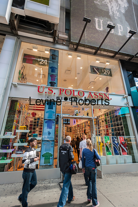 The U.S. Polo Assn. flagship store in Times Square in New York on Friday, November 1, 2013. The association recently opened a 1250 sq-ft store in the Crossroads of the World. (© Richard B. Levine)