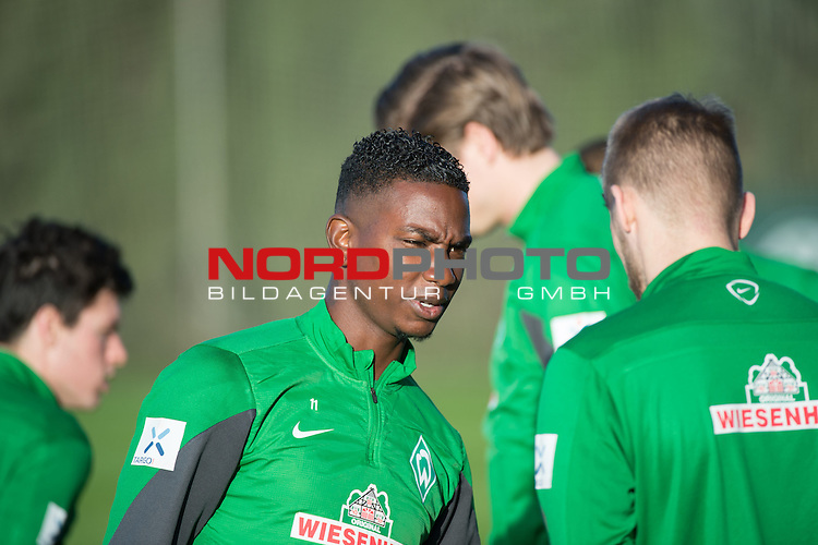 Trainingsgel&auml;nde, Jerez, ESP, 1.FBL, Trainingslager Werder Bremen 2014,  08.01.2014, <br /> <br /> Eljero Elia (Bremen #11)<br /> Aaron Hunt (Bremen #14)<br /> <br /> Foto &copy; nordphoto/ Kokenge