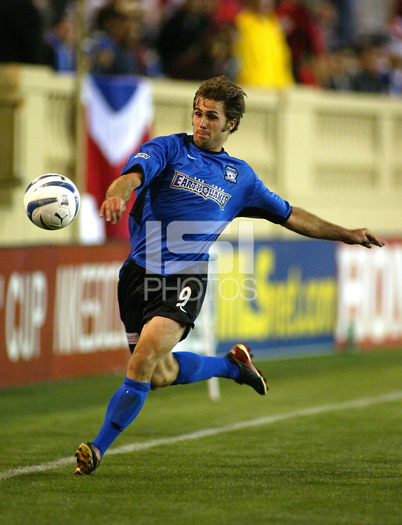 24 March 2004: Brian Mulllan in action during the CONCACAF Champions Cup at Spartan Stadium in San Jose, California.   San Jose won the game, final score: 1-0.