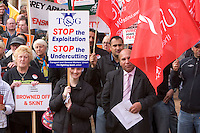 MASS RALLY For Decent Pay, Decent Pensions, Decent Public Services.17th October 09 Victoria Square, Birmingham...