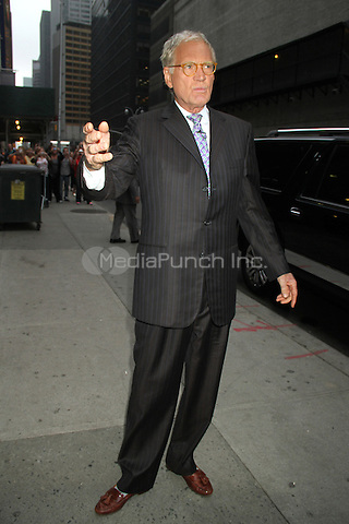 NEW YORK, NY - OCTOBER 4: David Letterman at the Ed Sullivan Theater before taping Late Show with David Letterman in New York City. October 4, 2012. © RW/MediaPunch Inc.
