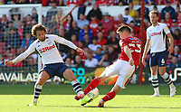 Nottingham Forest's Joe Lolley is tackled by Preston North End's Ben Pearson<br /> <br /> Photographer David Shipman/CameraSport<br /> <br /> The EFL Sky Bet Championship - Nottingham Forest v Preston North End - Saturday 31st August 2019 - The City Ground - Nottingham<br /> <br /> World Copyright © 2019 CameraSport. All rights reserved. 43 Linden Ave. Countesthorpe. Leicester. England. LE8 5PG - Tel: +44 (0) 116 277 4147 - admin@camerasport.com - www.camerasport.com