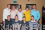 BASKETBALL SOCIAL: Attending the Cahersiveen Basketball Social on Saturday night in Cable OLearys Bar and Restaurant in Ballinskelligs were the Senior Mens Basketball Team. Front row from l-r: Connie OConnor, Cormac OShea, Johnny Clifford and Jamie OShea. Back row l-r: Mike Anthony OSullivan, Eamonn Casey, Maurice Murphy, Aller Nunn and Mike Keating..
