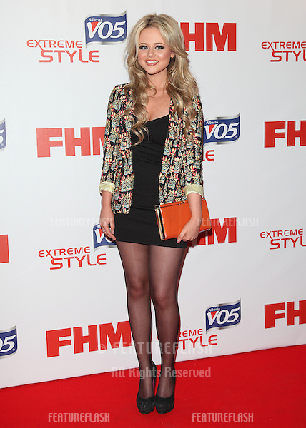 Emily Atack arriving at FHM 100 Sexiest Women In The World 2012 - Launch Party, Proud Bank, London. 01/05/2012 Picture by: Alexandra Glen / Featureflash