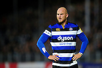 Matt Garvey of Bath Rugby looks on. Aviva Premiership match, between Bath Rugby and Sale Sharks on October 7, 2016 at the Recreation Ground in Bath, England. Photo by: Patrick Khachfe / Onside Images