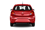 Straight rear view of a 2019 Mitsubishi Space Star In 5 Door Hatchback stock images
