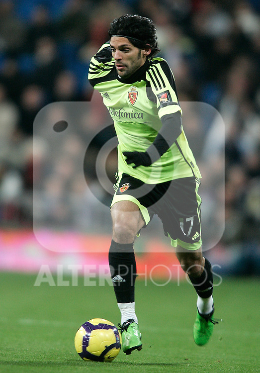 Zaragoza's Angel Lafita during La Liga match, December 19, 2009. (ALTERPHOTOS/Alvaro Hernandez).
