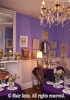Victorian B and B dining room, Jim Thorpe, Carbon Co., NE PA