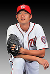 25 February 2011: Washington Nationals' pitcher Chien-Ming Wang poses for his Photo Day portrait at Space Coast Stadium in Viera, Florida. Mandatory Credit: Ed Wolfstein Photo