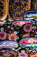 Close up of lacquerware souvenir in Taxco, Mexico