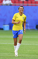 20190618 - VALENCIENNES , FRANCE : Brazilian Raquel Fernandes pictured during the female soccer game between Italy  and Brazil  , the third game for both teams in group C during the FIFA Women's  World Championship in France 2019, Tuesday 18 th June 2019 at the Stade du Hainaut Stadium in Valenciennes , France .  PHOTO SPORTPIX.BE | DIRK VUYLSTEKE