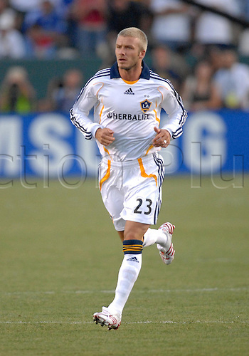 21 July 2007: David Beckham makes his debut during a World Series of Football match featuring the Los Angeles Galaxy against Chelsea FC at the Home Depot Center in Carson, CA.