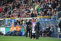 VOETBAL: HEERENVEEN: Abe Lenstra Stadion, SC Heerenveen - Feyenoord, 06-05-2012, Rajiv van La Parra (#20) staat klaar om als wissel in het veld te komen voor Bas Dost, Eindstand 2-3, ©foto Martin de Jong